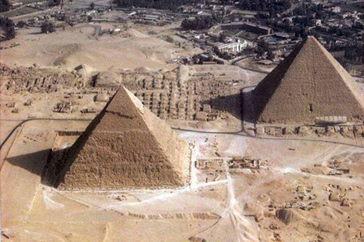 Vista aérea de las pirámides Foto: apuntes santander lasalle