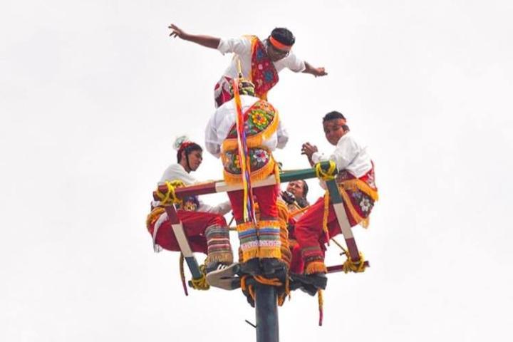 Voladores de Papantla, Patrimonio Cultural Inmaterial de México. Foto: p.exz