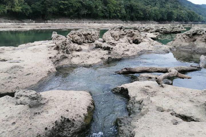La Zona de Santa Margarita vista fuera de lo común, por debajo del nivel del río. Foto: ivesmor