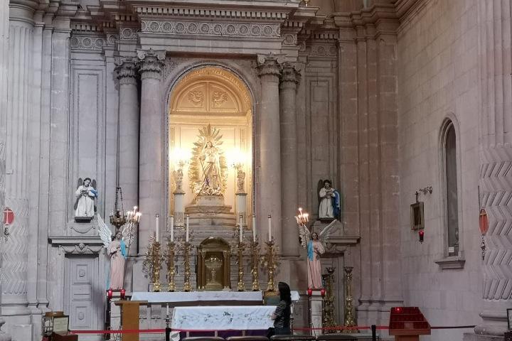 Virgen de la Asunción en la Catedral de Zacatecas Foto: Eco diario de Zacatecas