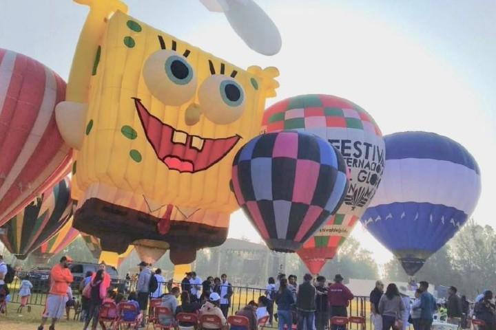 El globo de Bob Esponja estará presente en el Festival Internacional del Globo 2020. Foto: El radar