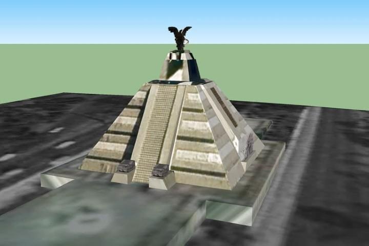 Diseño del Monumento a la Raza. Foto: 3d warehouse