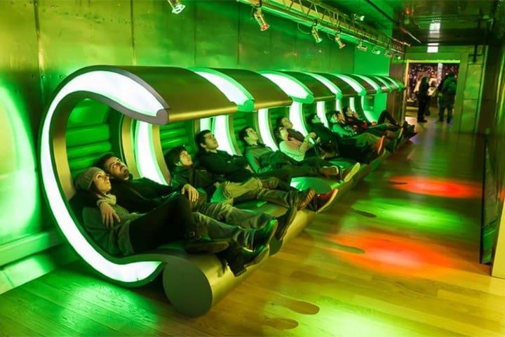 Asientos cómodos, exhibiciones interactivas, sí que la Fábrica de Heineken lo tiene todo. Foto: La Guía de Amsterdam