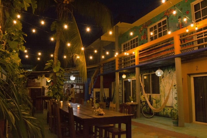 Hostal Mama's Home Tulum de noche Foto: Hostel World