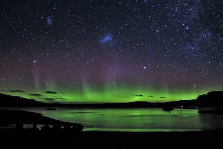 Aurora boreales en Isla Stewart Foto: Turismo de estrellas