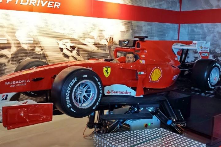 Simulador de la Fórmula 1 Foto: Youtube