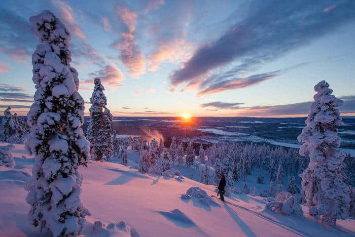 El avistamiento de auroras boreales en Levi, Finlandia en único. Foto: Archivo