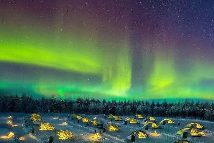 Disfruta de las auroras boreales en Levi, Finlandia. Foto: Archivo