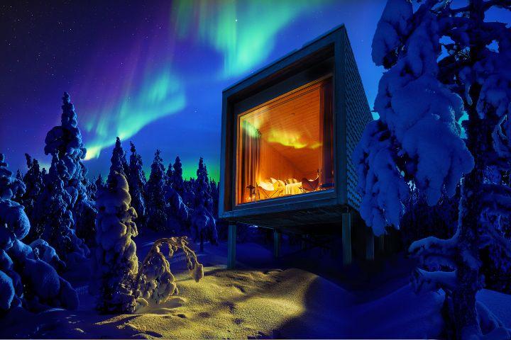 Visit Finland Foto: Auroras boreales en Levi Finlandia