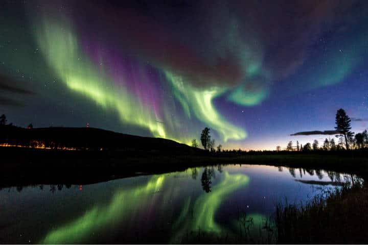 En Levi, Finlandia, las auroras boreales son bellísimas. Foto: Archivo