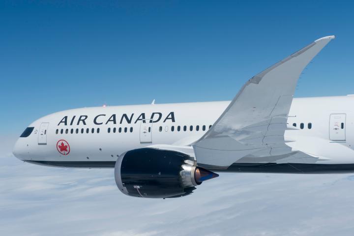 Avión en el aire Foto: Air Canada