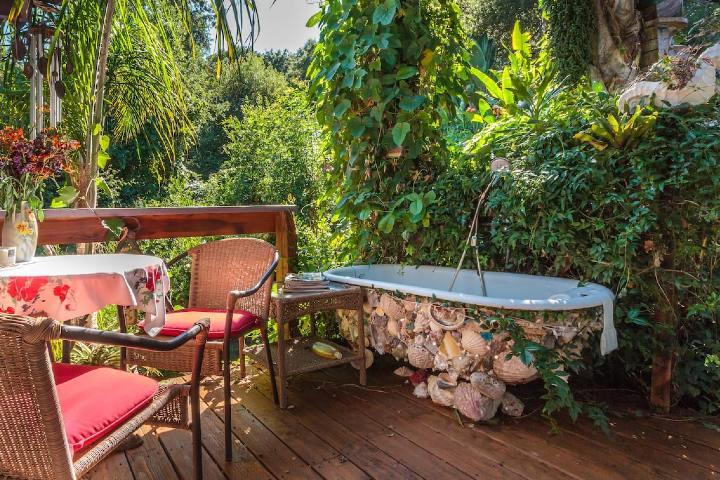 Bañera al aire libre Foto: Airbnb
