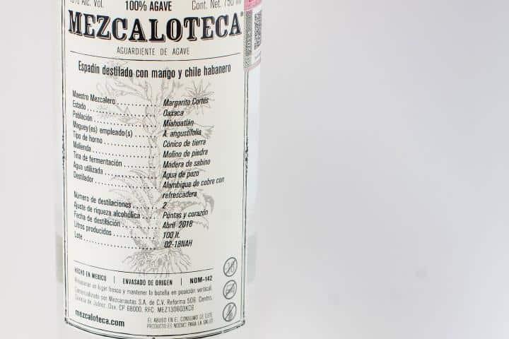 Botella de Mezcal. Foto Página Facebook