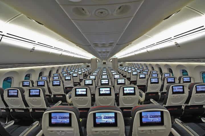 Cabina de avión de Air Canada Foto: Air Canada