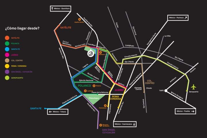 Como llegar. Foto: Fb-Parque Bicentenario MX