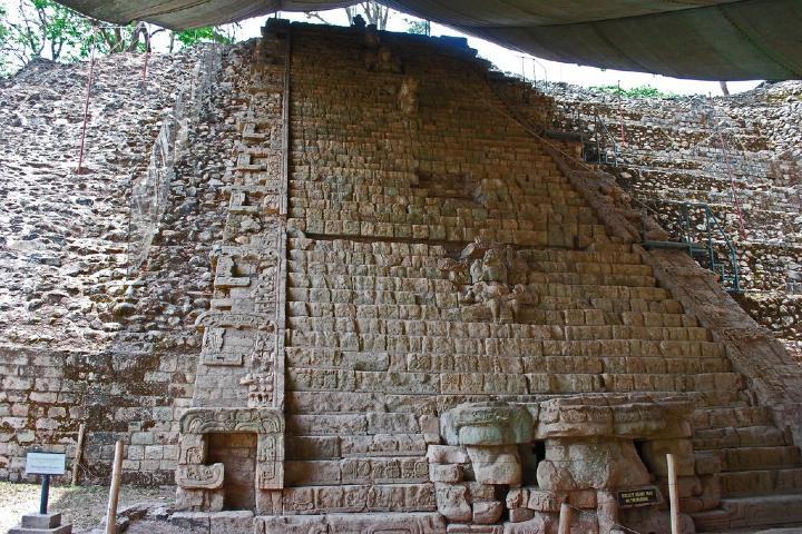 Escalinata de Copán Foto: Viaje al Patrimonio