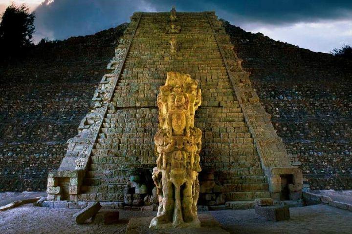 Ciudad de Copán Foto: Edificios Mayas | Twitter