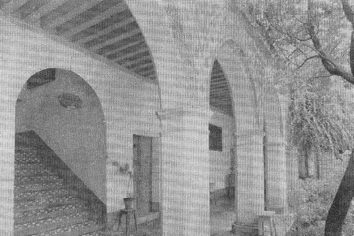 Esta el la foto más antigua que se tiene del Convento de Santa Mónica. Foto: Research Gate