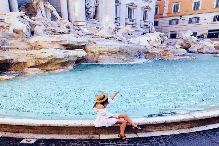 Datos curiosos de la Fontana Di Trevi Italia. Foto Deb Arn.