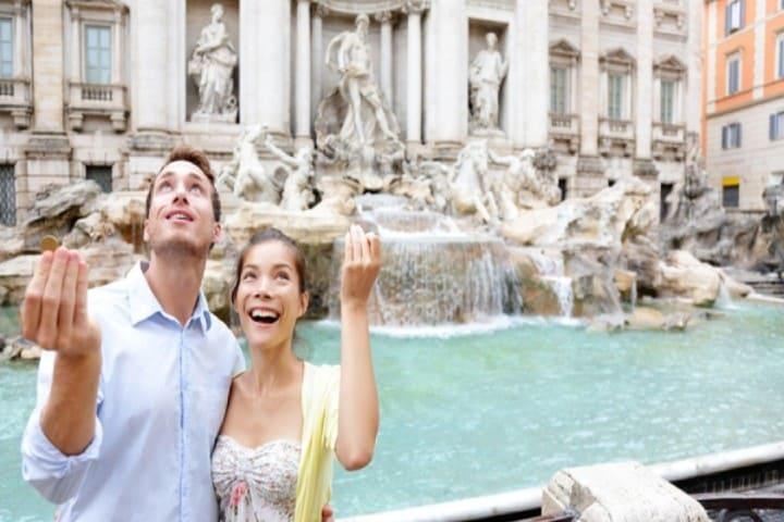 Encuentra al amor de tu vida en la Fontana Di Trevi Foto: Infobae