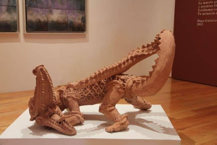 Escultura en el Museo de Arte de Querétaro. Foto: Hola Querétaro