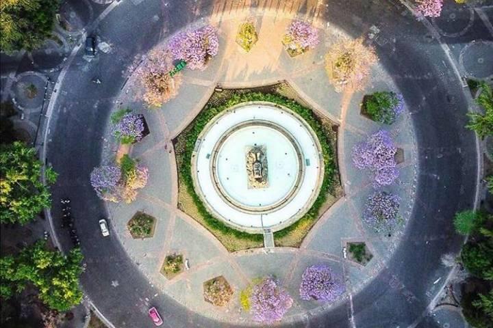 Glorita de Cibeles. Foto: mexico_drone