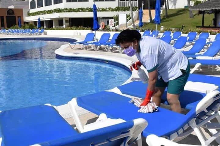 Hotel desinfectado Foto: Alcaldes de México
