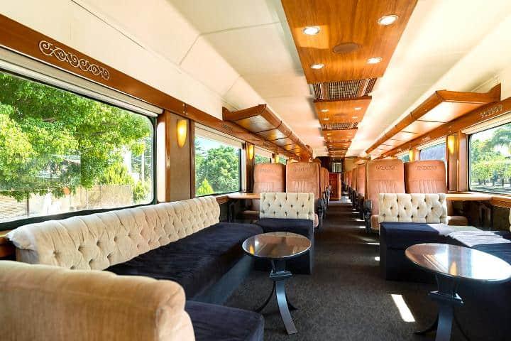 Interior del Tren José Cuervo Express. Foto: Mundo Cuervo