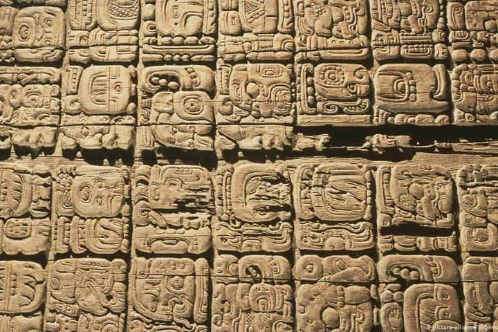 Jeroglíficos mayas Foto: DW