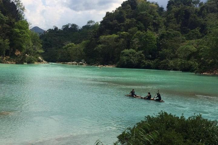 Kayak en Agua Clara. Foto: Agua Clara Chiapas