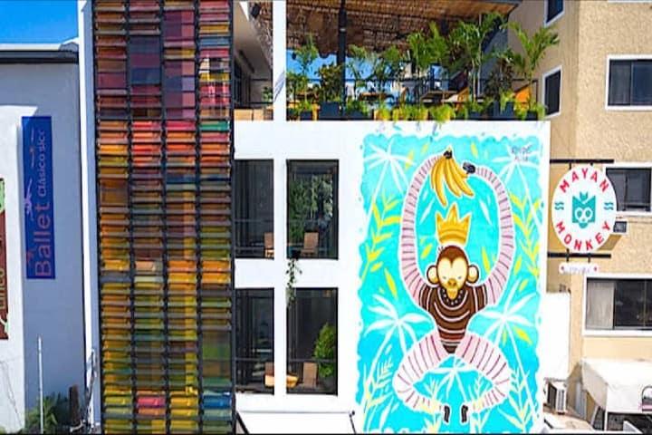 Mayan Monkey Hotel &  Hostel Foto: Zona Turística
