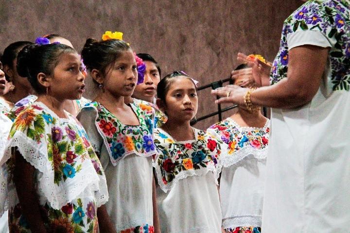 Niñas Mayas Foto: Yucatan Noticias