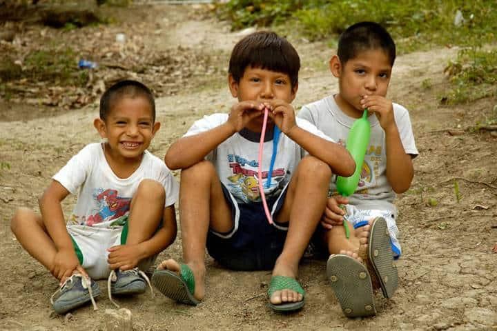Niños pertenecientes a la etnia Teenk. Foto: gobmx