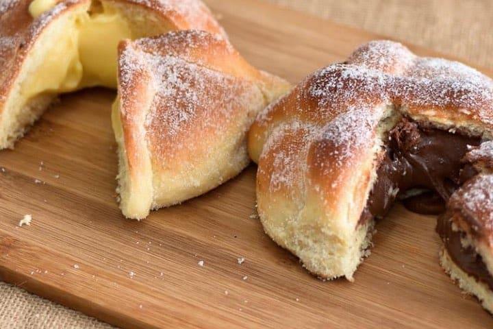 Pan de Muerto relleno de crema pastelera y Nutella ¡De lo mejor de Guadalajara! Foto: Saint Michel   Facebook