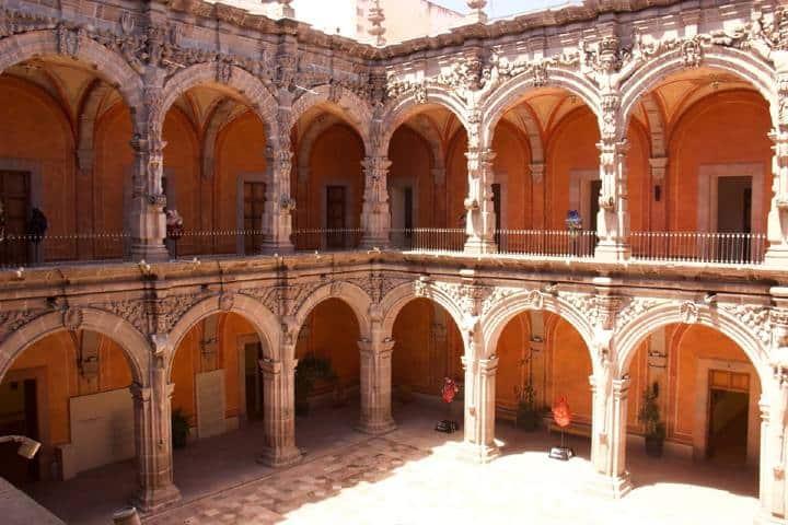 Una vista al patio del museo. Foto: Museo de Arte de Querétaro