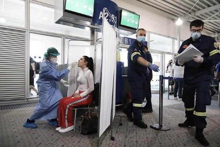 Pruebas en el aeropuerto Foto: Ekathimereni