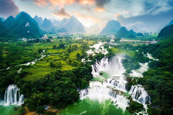 Revista Viajar Foto: Cataratas Ban Gioc Detian en Vietnam