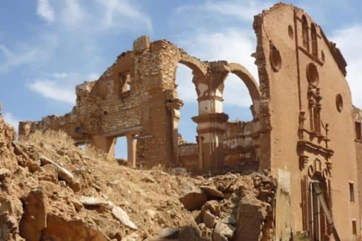 Una ciudad testigo de la guerra. Foto: belchiteturismo