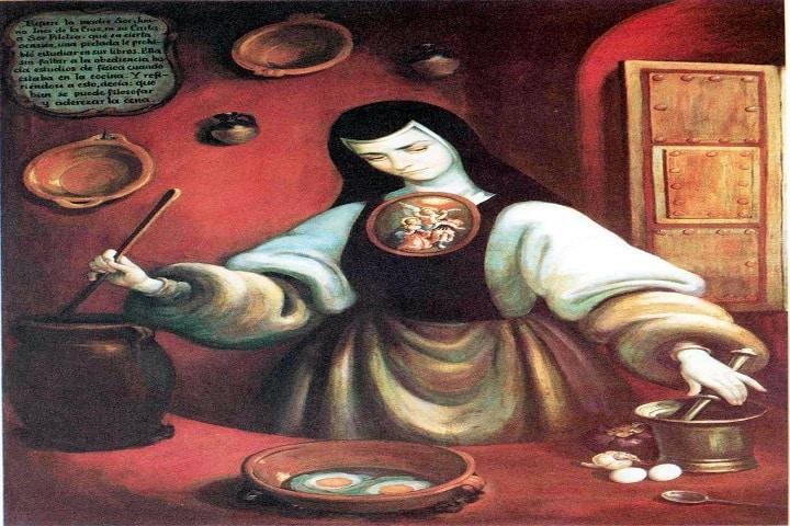 Sor Juana Inés disfrutaba de cocinar e incluso creó un recetario de deliciosas recetas. Foto: Pinterest