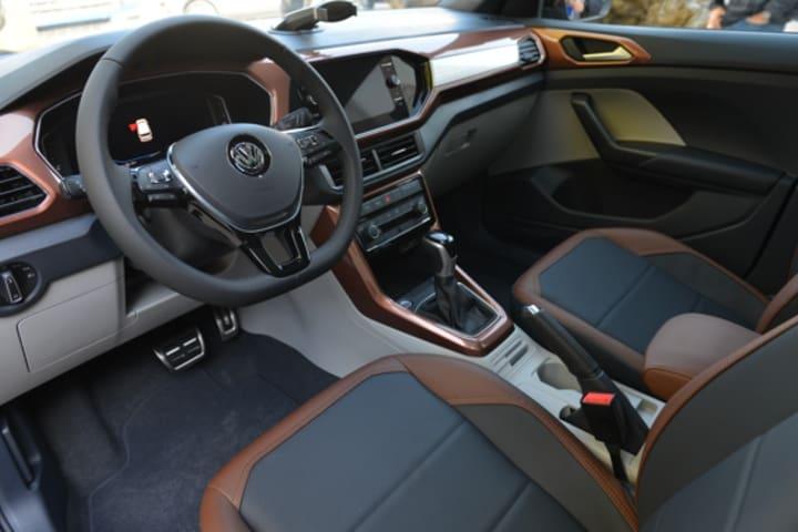 T-cross por el interior es un lujo. Foto: Volkswagen