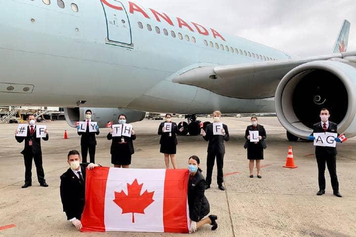 Tripulación en Montreal Foto: Air Canada