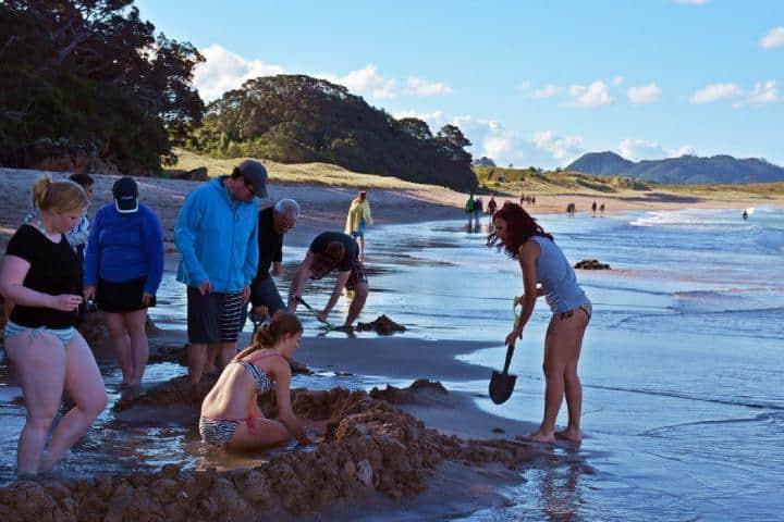 Turistas en Hot Water Foto: Como ser un Kiwi | Twitter