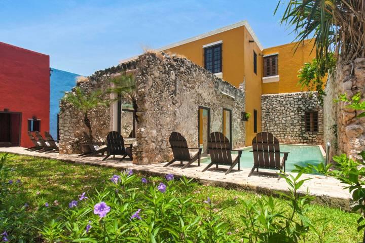 Vista del exterior de la Hacienda Puerta Campeche Foto: Archivo
