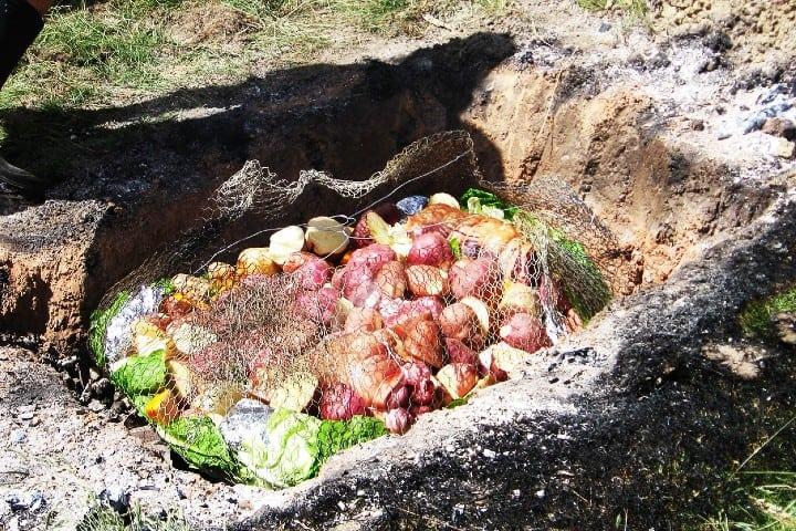 El horno antiguo de las delicias del Hangi Marori Foto: Soliciona