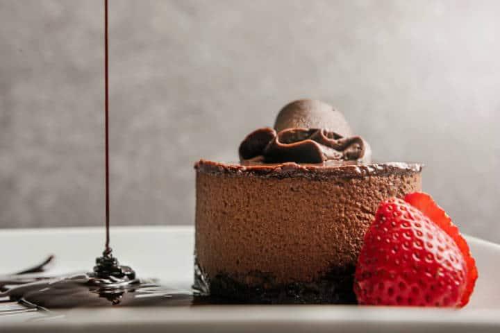 postre de chocolate.imagen: Restaurante Xanat. Archivo