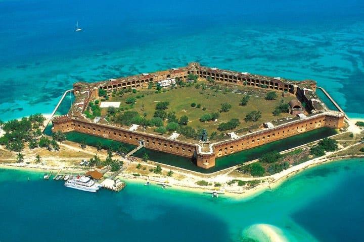 ¡La forma del parque es impresionante! Foto: Dry Tortugas