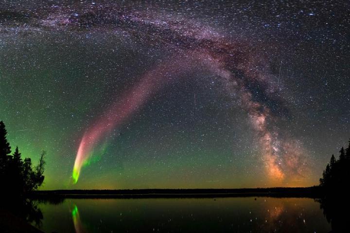 Auroras boreales en Canadá. Yellowknife. Imagen: archivo