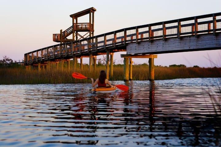 Big lagoon es uno de los Parques Estatales de Florida. Foto: Florida Parks