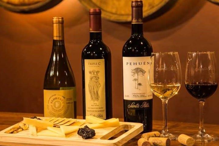 Botellas de vino de Viña Santa Rita. Foto: Archivo