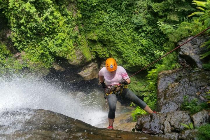 Aquí podrás practicar cañonísmo ¡Disfrútalo! Foto: Eco Parque Agua Selva